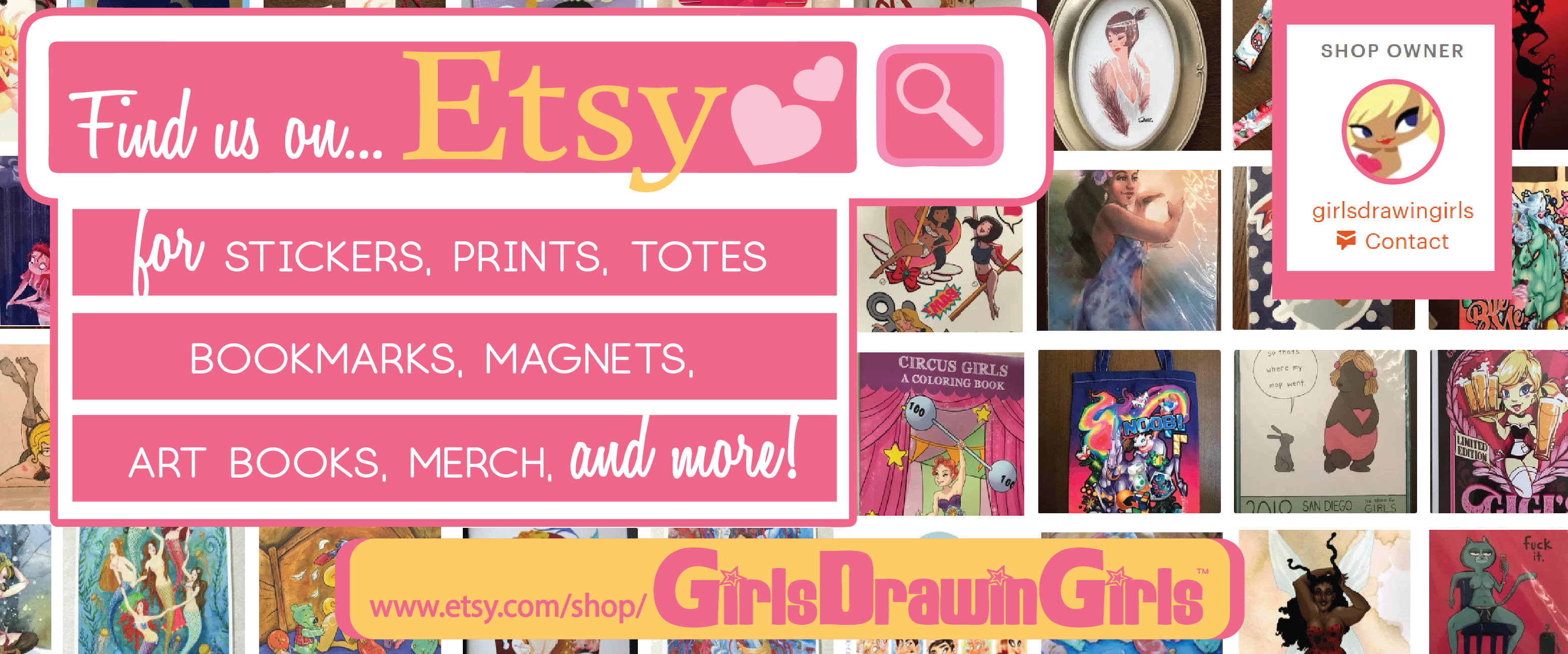 Girls Drawin Girls Etsy Store Banner - GDG, Tarot Decks Limited