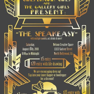 GDG & Gallery Girls Team Up for Speakeasy Life Drawing