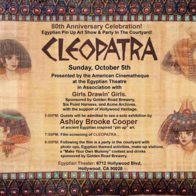 Cleopatra: Egyptian Pin Up Art Show & Party